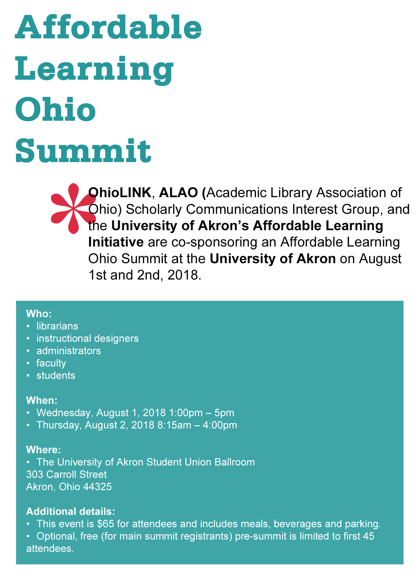 Affordable Learning Ohio Summit