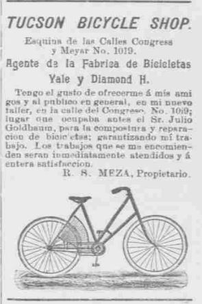 ad for Tucson Bicycle Shop