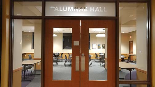Alumnae Hall entrance in the Read Center