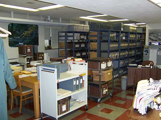 This is a photo of the Alverno College Archives, Corona room B8, taken in 2003.