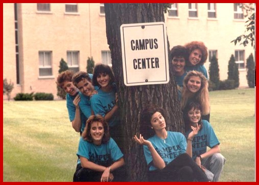 Resident Assistants outside the Campus Center
