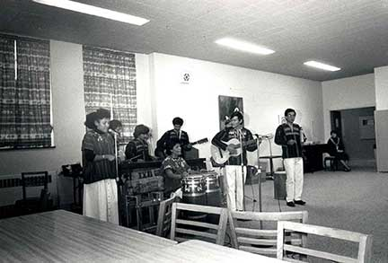 Guatamalan musicians in Alumnae Hall in 1988