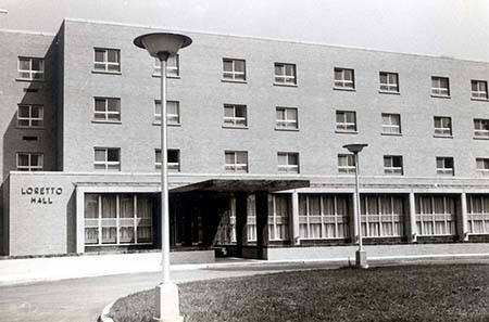 Loretto Hall shortly after it opened in 1965