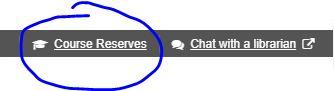 Course Reserves button