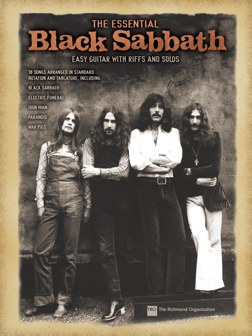 The Essential Black Sabbath (Songbook) Easy Guitar with Riffs and Solos  by Black Sabbath