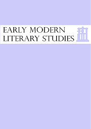 Early Modern Literary Studies
