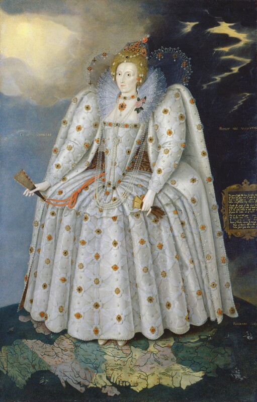 Queen Elizabeth I ('The Ditchley portrait') by Marcus Gheeraerts the Younger oil on canvas, circa 1592 NPG 2561 © National Portrait Gallery, London