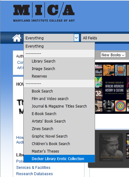 erotic search everything menu