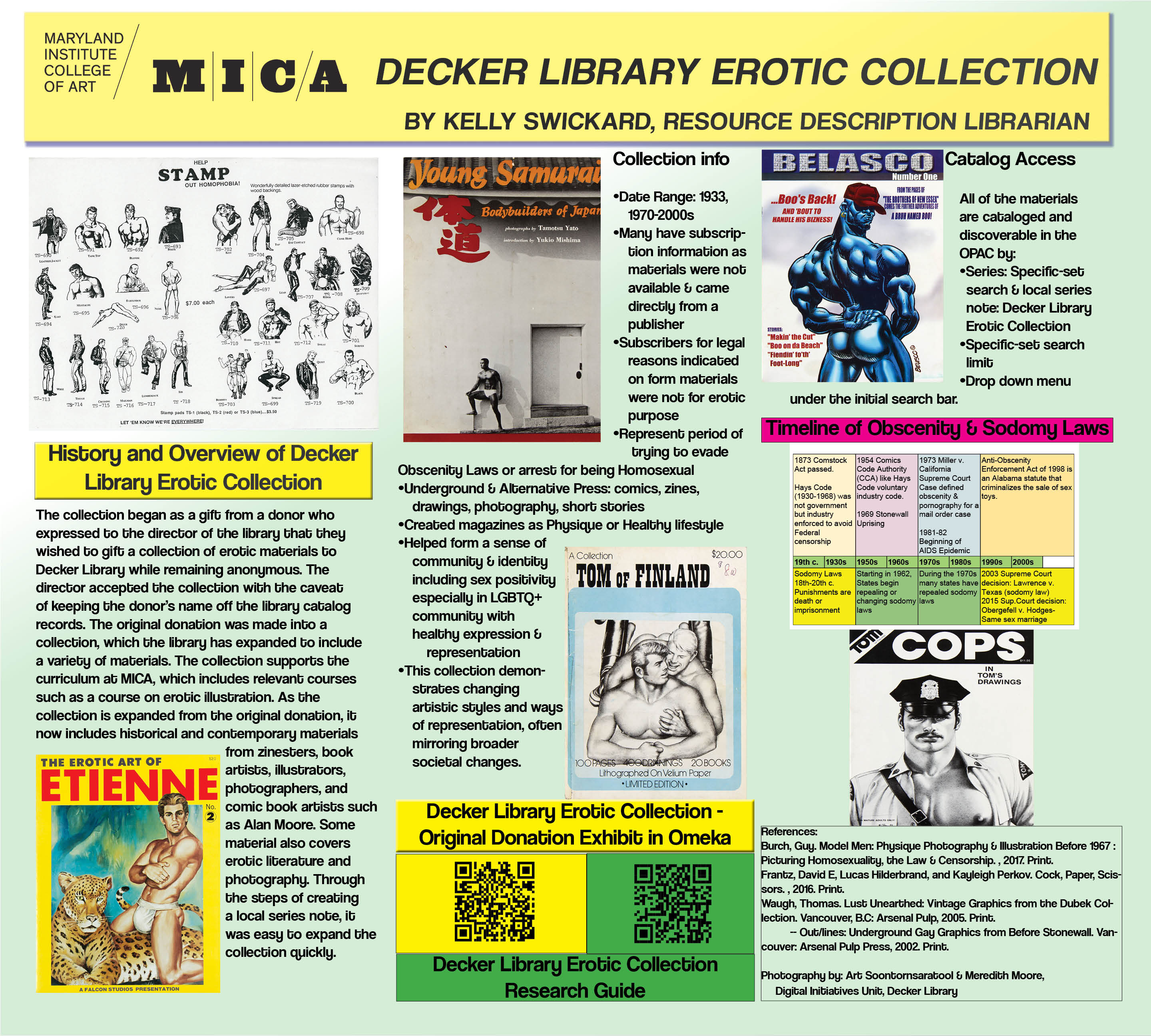 Decker Library Erotic Collection poster session