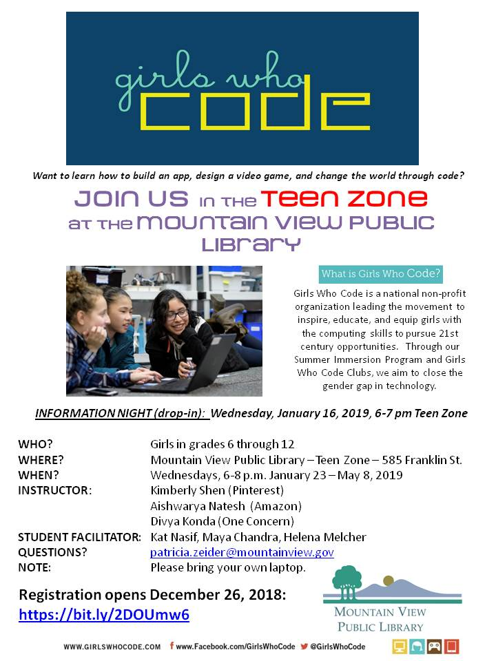 Girls Who Code Club: Informational Meeting