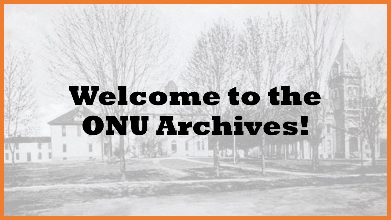 Welcome to the ONU Archives