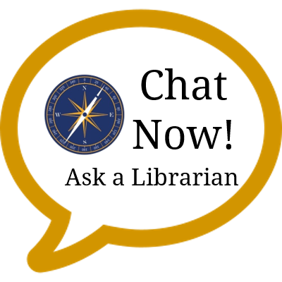 Chat now librarian webchat logo