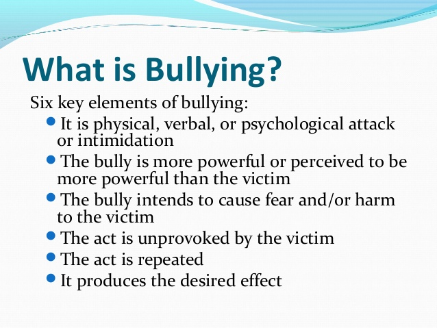 Six Key Elements of Bullying Image