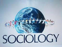 image of a world  with a ring of people around it and the word sociology underneath it