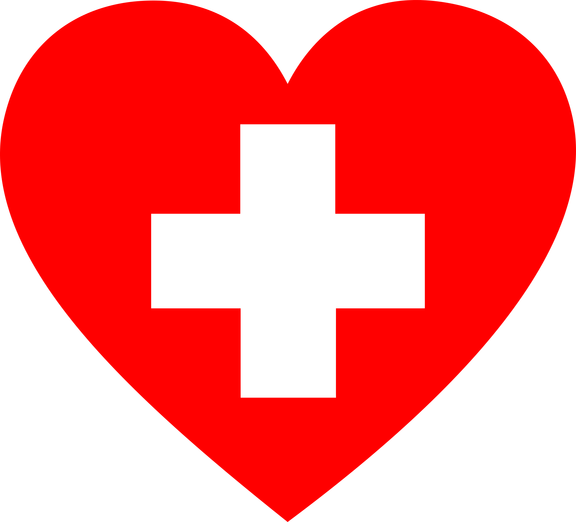 Heart with First Aid Symbol