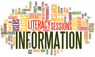 Word Cloud on information literacy