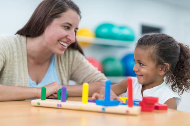 Occupational therapist with a child