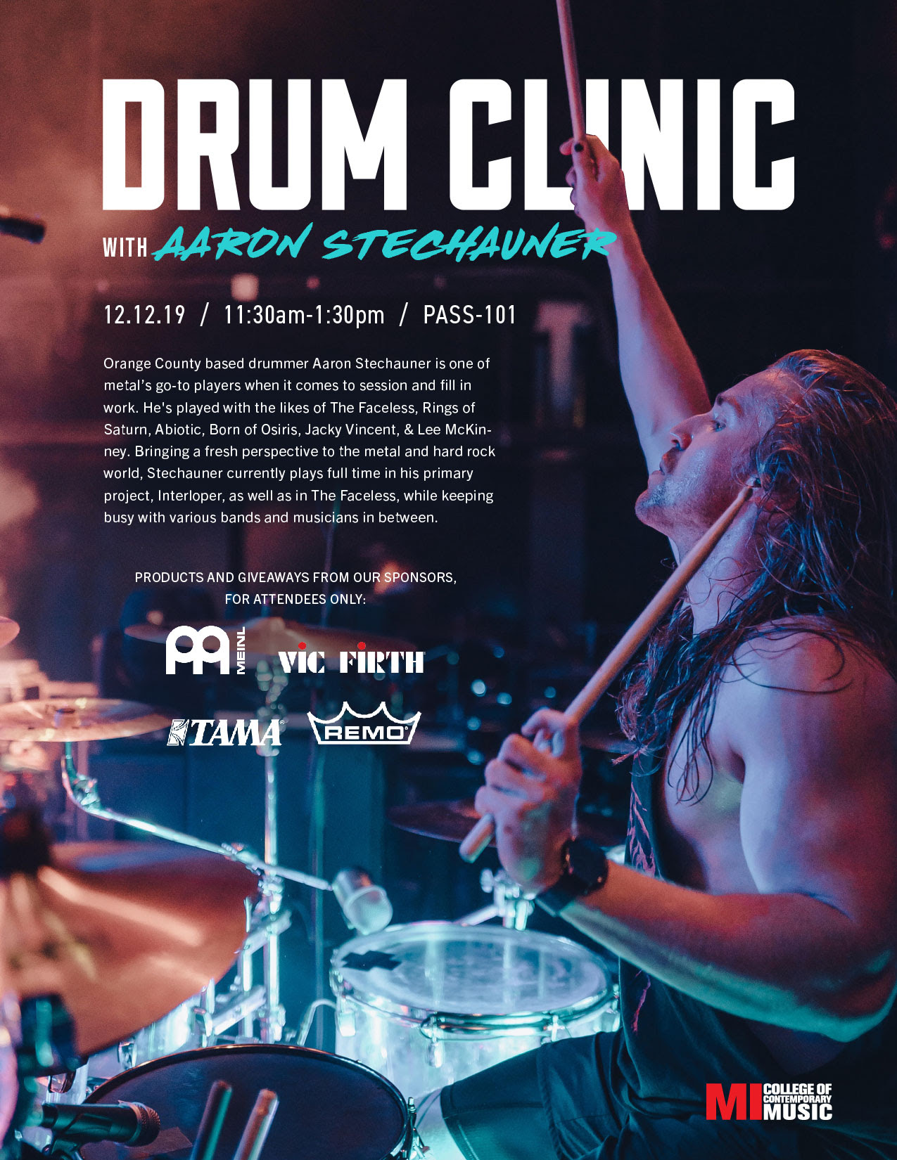 DRUM CLINIC WITH AARON STECHAUNER