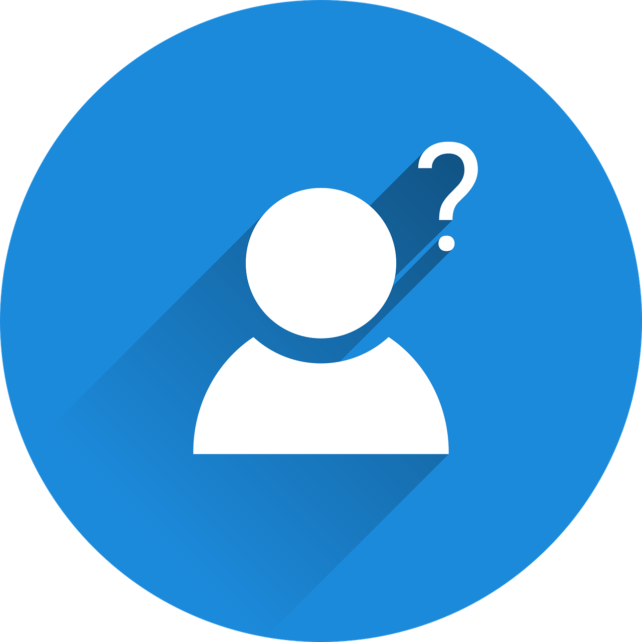 Person and question mark icon
