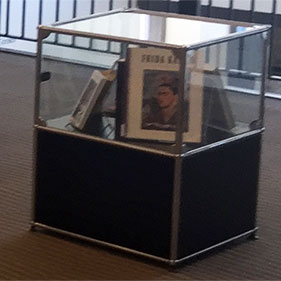 Photo of the smaller 3rd floor display case.