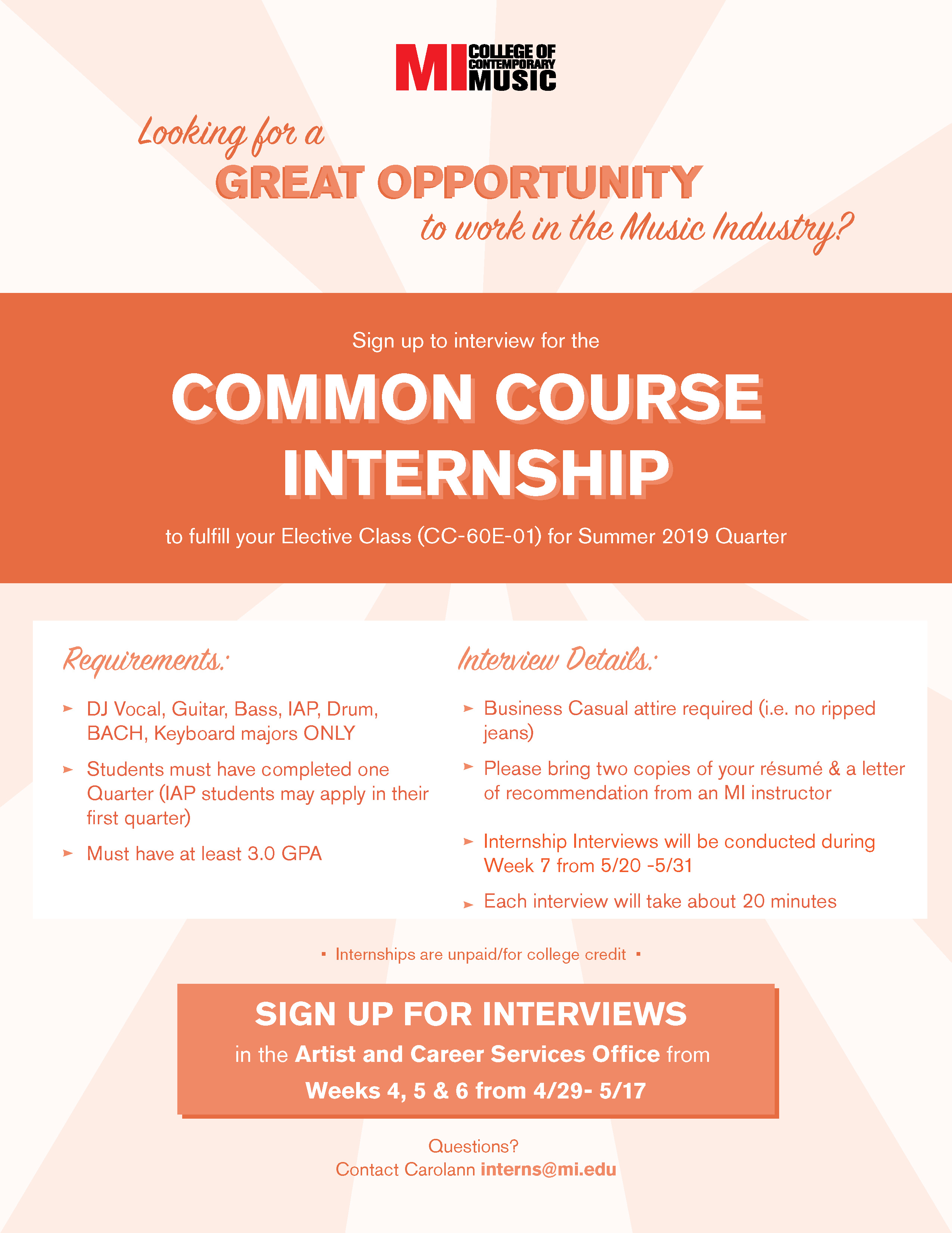 Common Course Internship