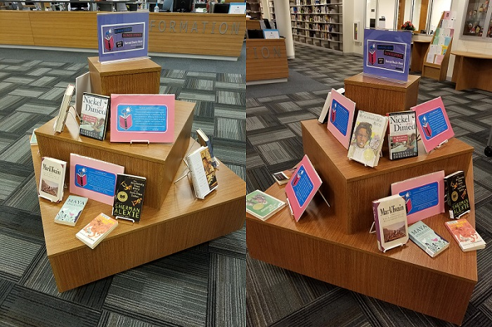 Banned Books Display, CCBC Dundalk Library