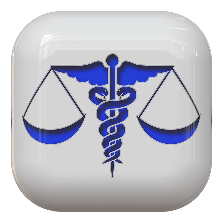combination of medical and legal symbols
