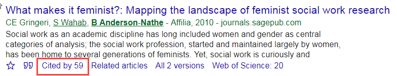 highlighted cited by link under citation in google scholar
