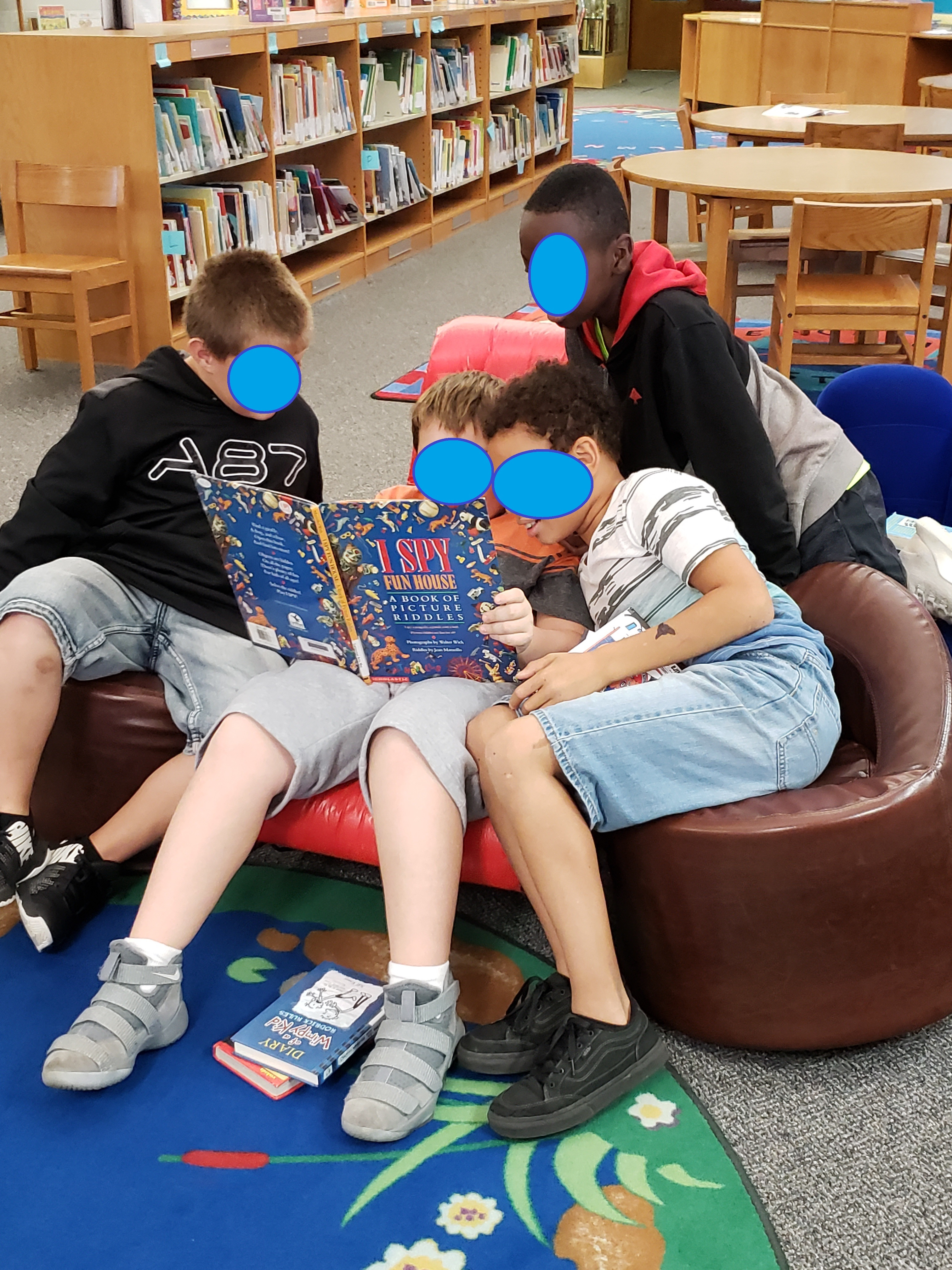 5th Grade Boys Enjoy Reading Together