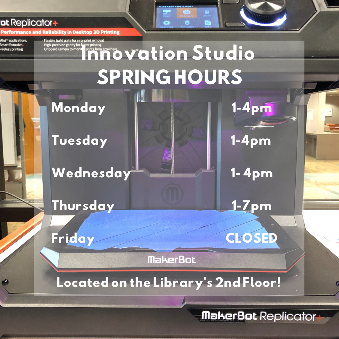 Innovation Studio Spring Hours
