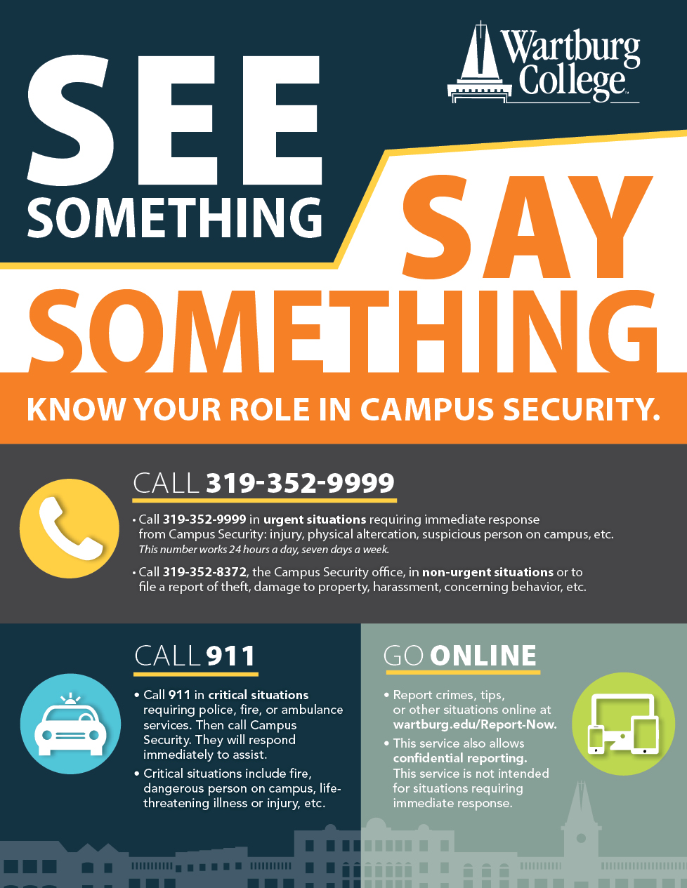 image is of see something say something poster campaign