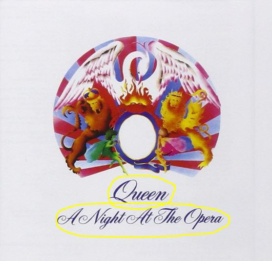 Front cover of Queen album A Night at the Opera