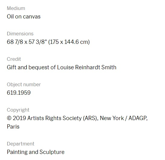 Image of additional information about Portrait of an Archer taken from the Museum of Modern Art's website