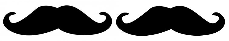 raster versus vector graphic: two mustaches side-by-side