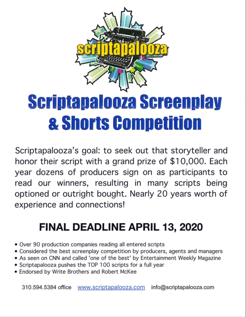 Scriptapalooza Screenplay & Shorts Competition