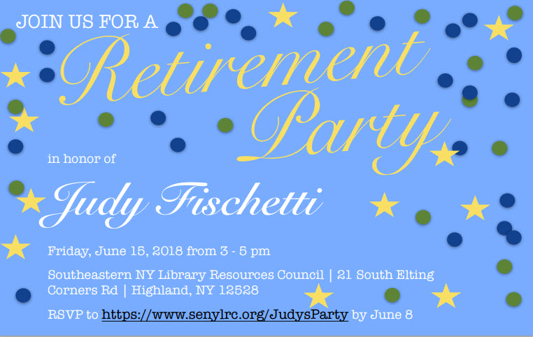 Join us for a Retirement Party in honor of Judy Fischetti