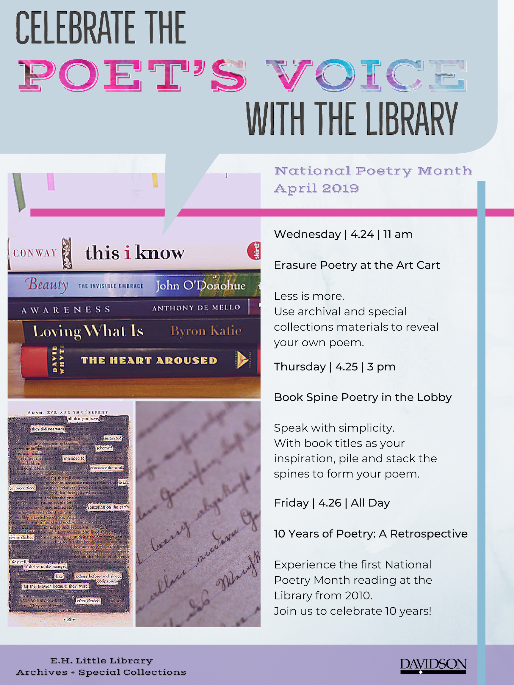 National Poetry Month flyer