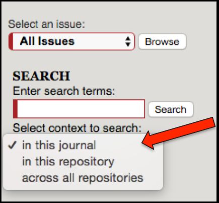 Menu of Search Choices