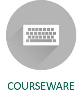 Courseware and open educational resources icon and link