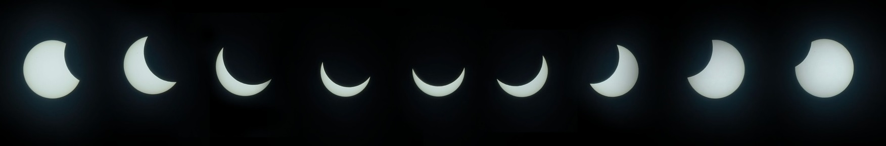 Partial solar eclipse phases