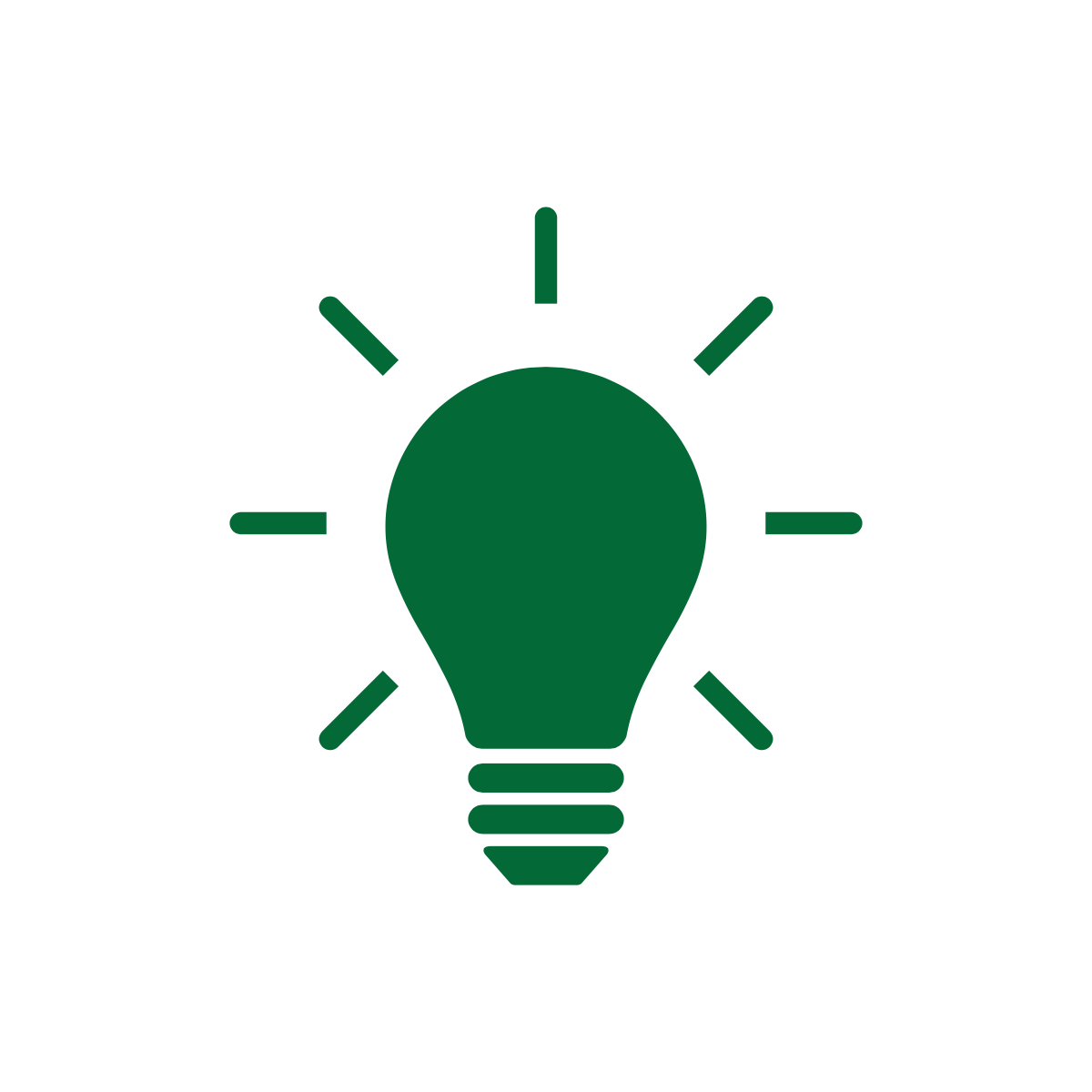 Green lightbulb icon from Noun Project