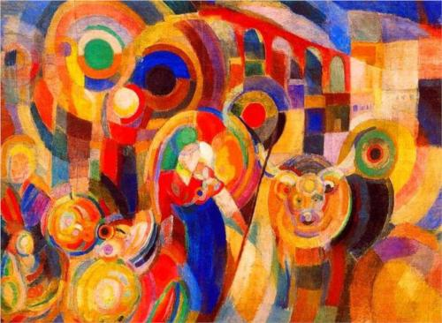 Market at Minho by Sonia Delaunay, 1915.