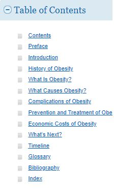 table of contents of an Ebsco ebook