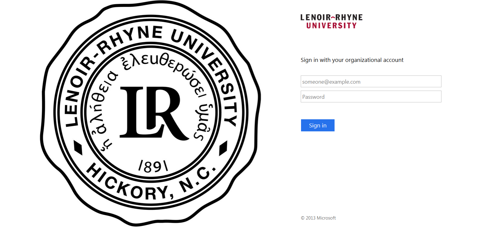 black and white lenoir-rhyne login