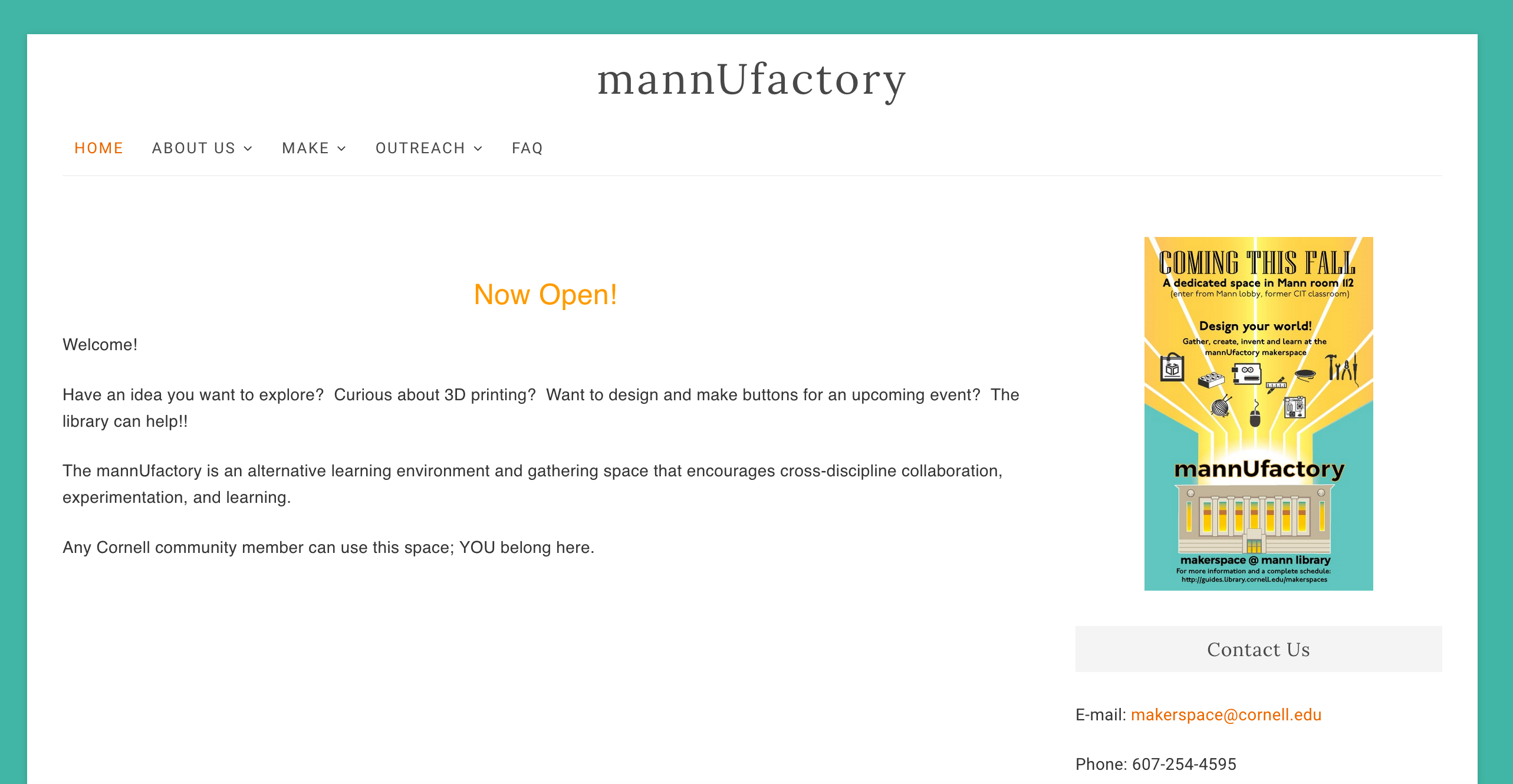new mannUfactory website