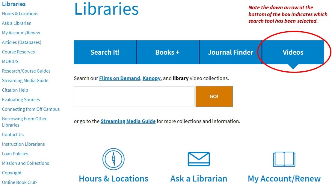 STLCC Libraries Video Search Tool