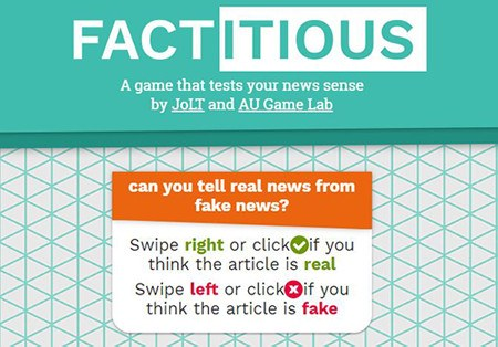 Facticious fake news game