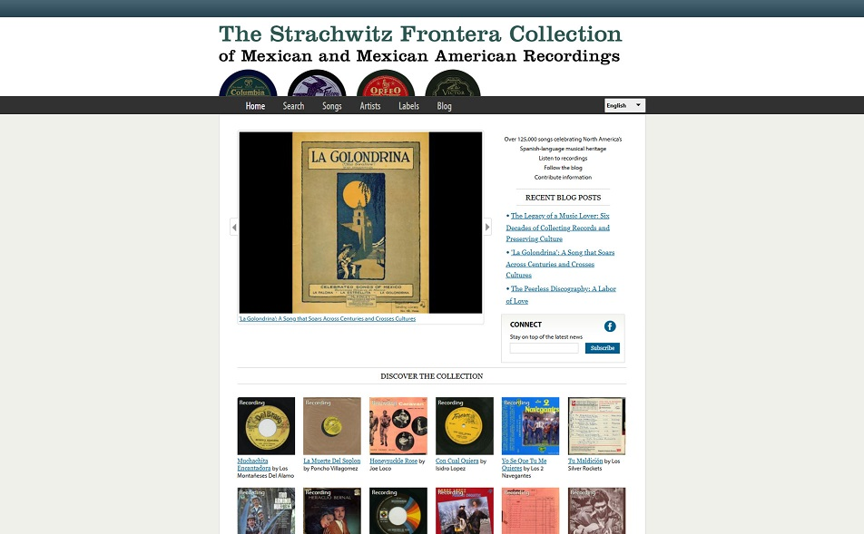 Strachwitz Frontera Collection of Mexican Recordin