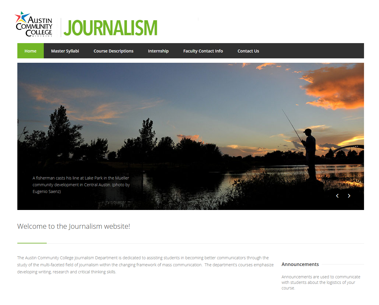 Journalism department Website