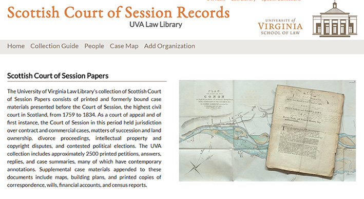 Scottish Court of Session Records Project website